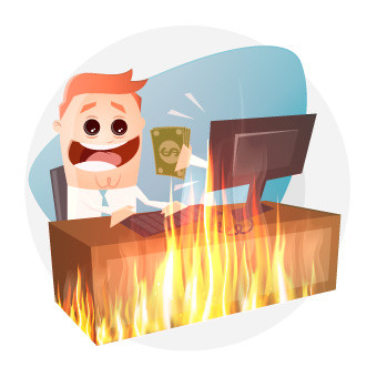 Job-burnout illustration